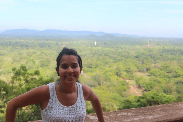 Yo desde la primera terraza en Sigiriya