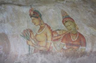 Frescos en Sigiriya