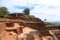 Ruinas del castillo en la Cima de Sigiriya