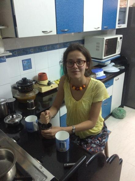Preparación del té chai
