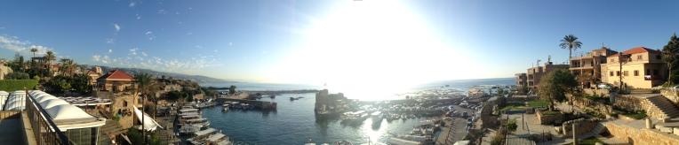 Vista Panorámica del puerto de Biblos