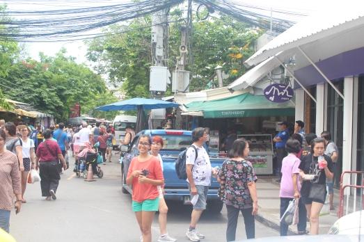 Yo en el mercado Chatuchak