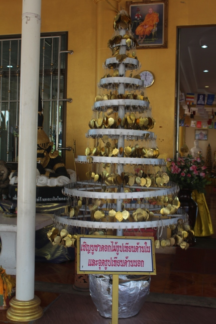 Hojas doradas para colocar a las Estatuas de Buda
