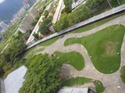 Vista de Tierra de Nadie desde el edificio de la Biblioteca