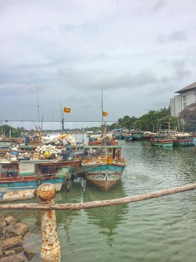 Barcos pesqueros en Negombo