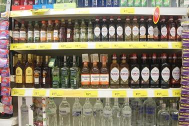 Vodka polaca en el super mercado