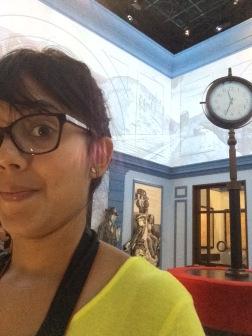 Selfie en el Museo de Polin donde hay instalaciones hasta de estaciones de tren.