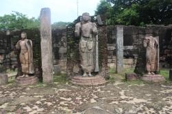 Restos de estatuas de Buda en Polonnaruwa