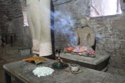 El pequeño templo entre las ruinas que tenia mucha energía