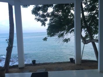 Vista desde la casa en la Isla Trapobane