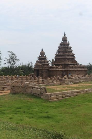 Templo en la Orilla, Mahabalipuram Chennai Tamil Nadu India Siete Pagodas