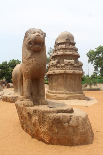 León Mítico en las Pancha Rathas