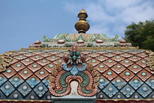 Detalle techo templo Hindu