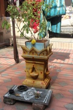 Altar en la casa del Brahman