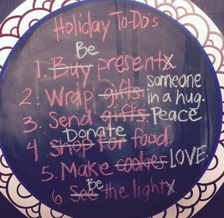 Lista de Quehaceres en las festividades