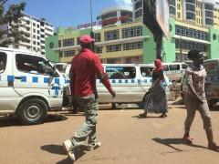 Pequeño caos en las calles de Kampala