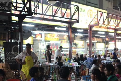 mercado de comida callejera Jalan Alor