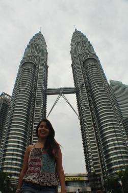 Yo en las torres Petronas