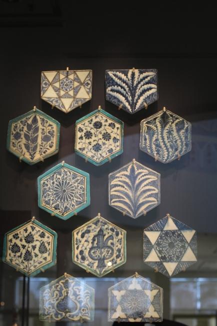 Azulejos islámicos de diferenes diseños
