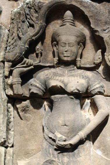 Imagen de Apsará ninfa hindu en Angkor