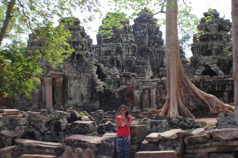 Yo en la ruinas de Angkor