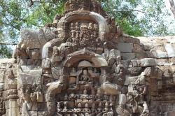 Tallado en piedra Ruinas de Angkor Cambodia