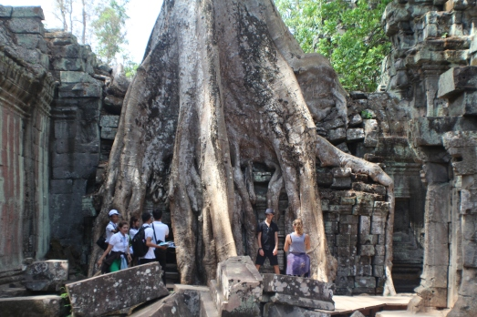 Templo Ta Phrom y la danza de amor fatal entre las estructuras y la naturaleza