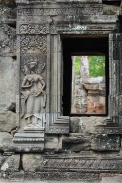 Ninfas o Apsara en el Templo Ta Phron