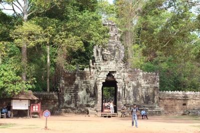 Otra de las entradas a Angkor Thom