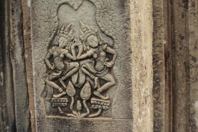Apsaras en el templo Bayón, Angkor Thom