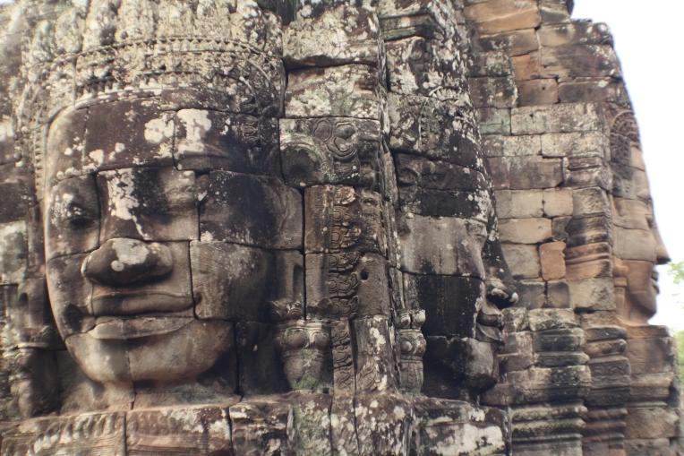 Las caras del templo Bayon tridimensional Angkor Thom Camboya Ruinas Angkor