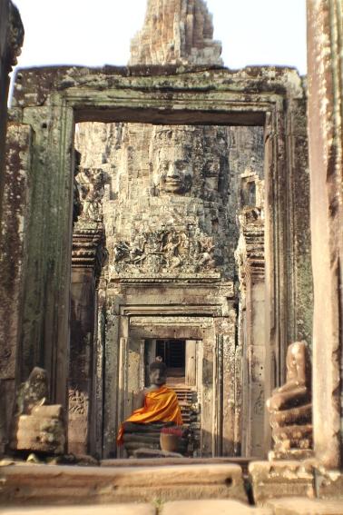 A pesar de algunos elementos de origen Hindú, el templo Bayón es considerado un templo budista.