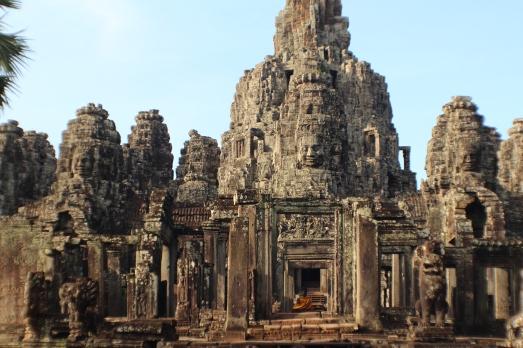 Vista exterior de las torres del templo Bayón