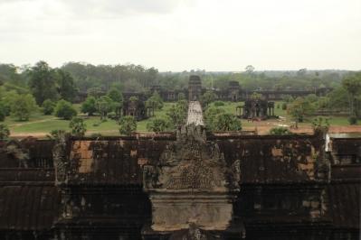 Vista desde arriba entrada a Angkor Wat