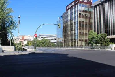 Calles desiertas de Madrid