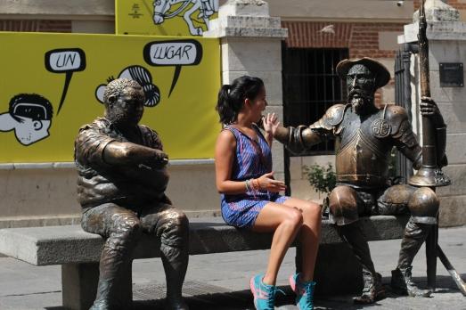 Conversando con Don Quijote en la Casa de Cervantes. Alcalá de Henares