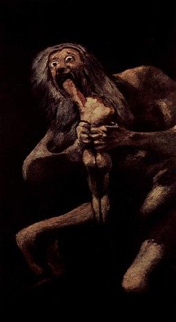 Saturno Devorando a su hijo por Goya, obra de arte que está en el Museo del Prado. Cortesía de Wikipedia Commons