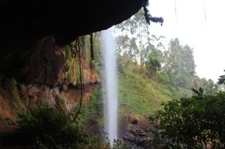 La segunda cascada Sipi, para llegar a esta había que descender