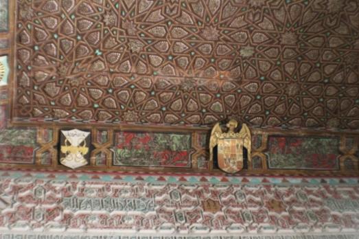 Detalles del techo en el Salón de los embajadores
